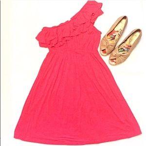 🔷BOGO🔷 One shoulder stretchy pink summer dress